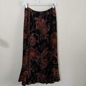 Notations | Floral Print Midi Skirt